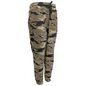 Kangol Camo Print Terry Joggers Cinched Ankle